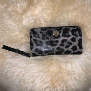 Kate Spade wallet leopard print